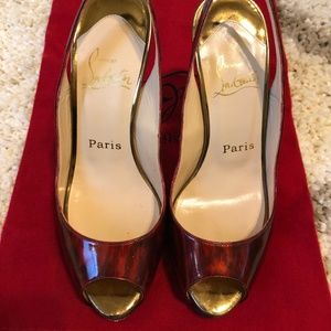 Christian Louboutin Peep-toe Platform Heels Sandal